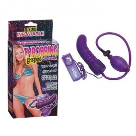 Фиолетовый расширитель с вибрацией для анальной стимуляции или массажа точки G - 15,5 см.