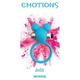 Голубое эрекционное виброколечко Emotions Minnie Breeze