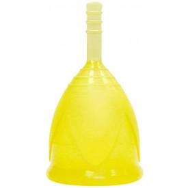 Желтая менструальная чаша размера S
